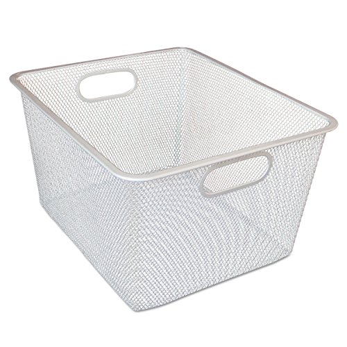 Mesh Shelving (Alera ALESW248SV Wire Mesh Nesting Shelving Baskets, 12 x 14 x 7 3/4, Silver (Set of 2))