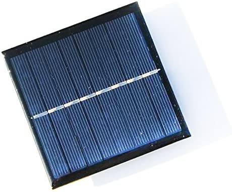 Noblik 1W 4V Rechargeable AA Battery Solar Cell Charger with Base for 2xAA Batteries Charging Directly