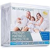 HARMONY DREAM King Size Premium Waterproof Hypoallergenic Mattress Protector Cover - Non Vinyl