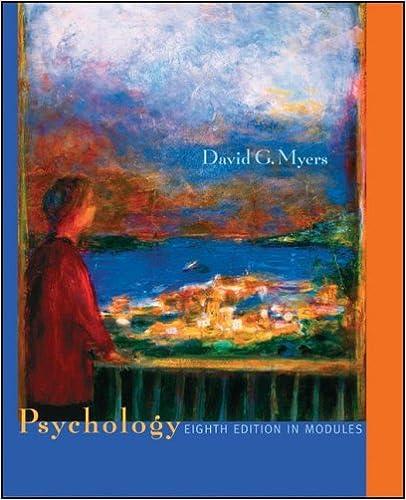 Psychology 8th (eighth) edition: david g. Myers: 0352010001431.