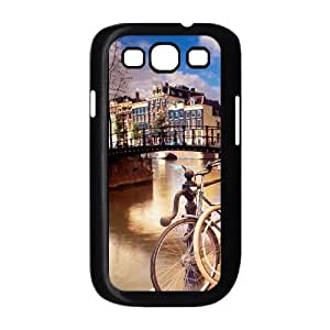 Samsung Galaxy S3 9300 Cell Phone Case Covers Black amsterdam City Custom Phone Case For Guys CZOIEQWMXN27347