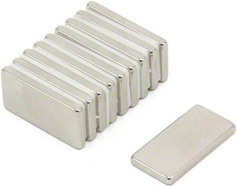 Magnetastico Permanent magnet pour r/éfrig/érateur Aimant tableau magn/étique Aimant pour tableau blanc Aimant parall/él/épip/édique Magnet frigo 10 aimants en n/éodyme N52 rectangulaire 20x10x2 mm