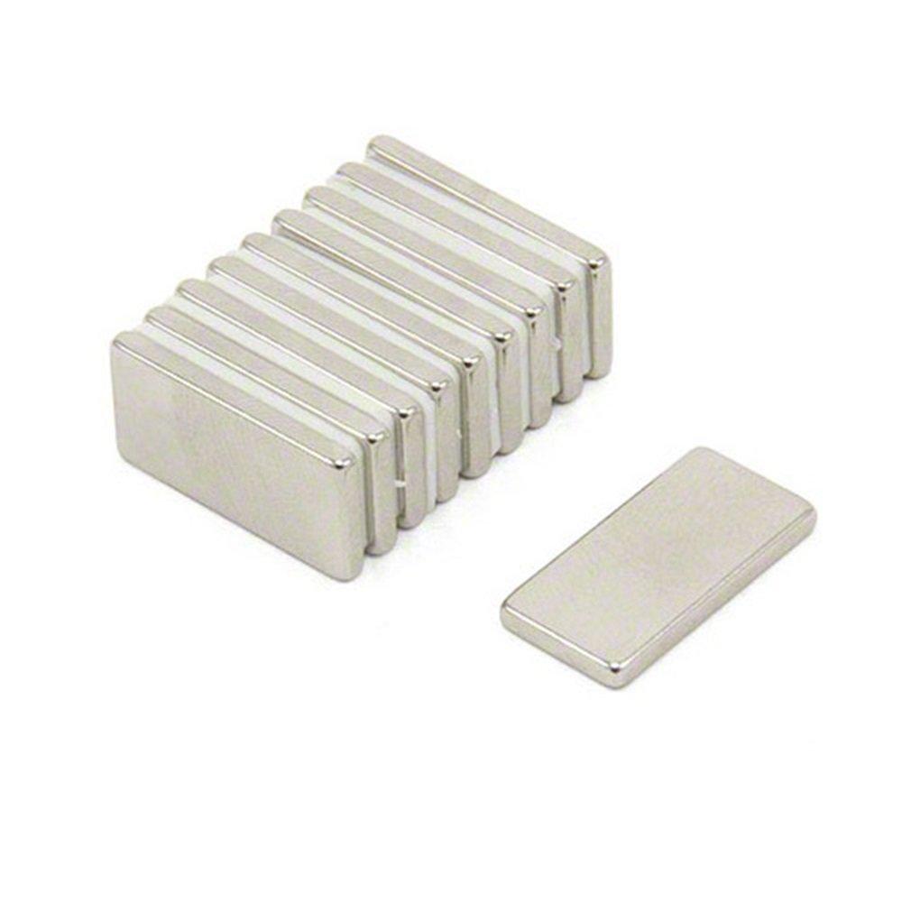 Fridge magnet Permanent magnet Whiteboard magnet Magnetastico/® Neo magnets bar Extra strong cuboid magnets 20 pcs 20x10x2 mm neodymium rectangular magnets N52 Super power mini magnets N52