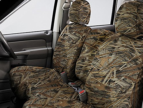 Covercraft SeatSaver Second Row Custom Fit Seat Cover for Select Nissan Frontier Models - True Timber Polyester (Flooded (Covercraft True Timber Camo)