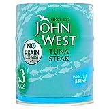 John West Tuna Steak in Brine No Drain (3x120g)