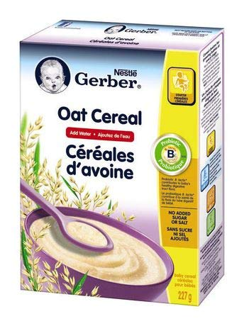 Nestle Gerber Baby Cereal - Oat & Prune - 227g(8oz), Product of Canada