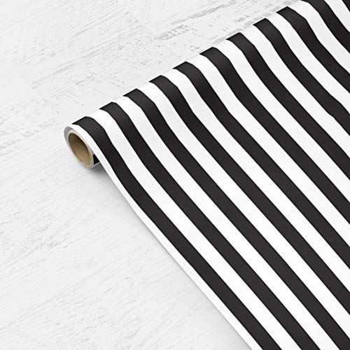 Bold Black and White Stripes Wrapping Paper - Fathers Day, Groom, Wedding, Christmas, Hanukkah, Modern, Boy, Girl, Scrapbooking, Craft Paper from The Eclectic Chic Boutique