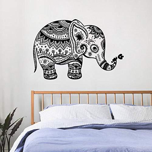 HNXDP Ganesha Elefante Etiqueta de la pared Vinilo Decoración para ...
