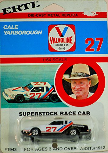 1980 - Vintage ERTL - NASCAR - Cale Yarborough - #27 Valvoline Racing Oils - Oldsmobile Cutlass - Superstock Race Car - 1:64 Scale Die Cast - New - Mint - Very Rare - OOP - Collectible