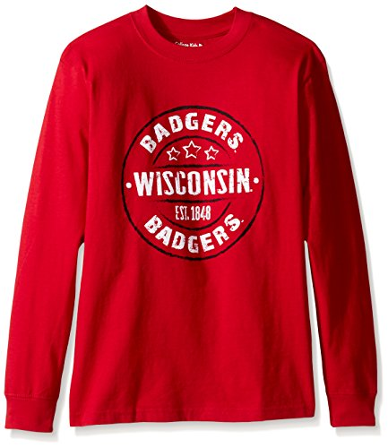 NCAA Wisconsin Badgers Youth Long Sleeve Tee, Size - Wisconsin Badger Tshirts Size 10
