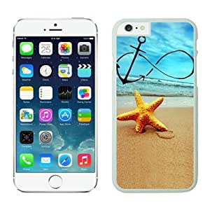 Custom Apple Iphone 6 Case Cover 4.7 Inches Durable White TPU Infinity Anchor Forever Young Starfish
