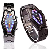 BESSKY Men Fashion Unique Style Lava Iron Samurai LED Japanese Inspired Watch