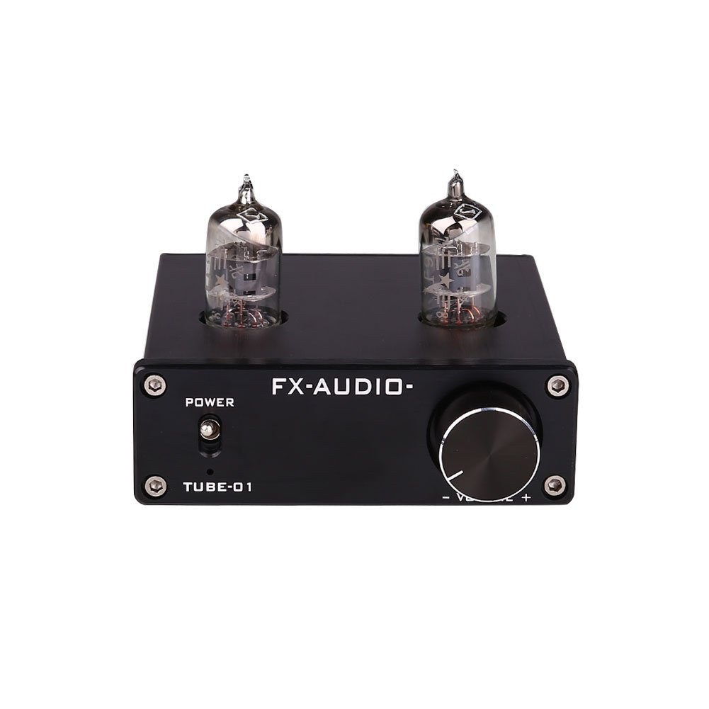 Cewaal DC12V 30W Mini 6J1 V/álvula y vac/ío Tube Stereo Audio HiFi Buffer Amplificador AMP