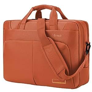 Laptop Bag ,BRINCH(TM) 15.6 inch Nylon Waterproof Roomy Stylish Laptop Shoulder Messenger Bag Handle Bag Tablet Briefcase For 15-15.6 Inch Laptop/Tablet/Macbook/Notebook,Orange
