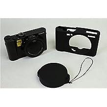 BolinUS Fullbody Ultra-Thin Lightweight Rubber Soft Silicone Case Bag Cover for Panasonic Lumix LX10 DMC-LX10 -Black