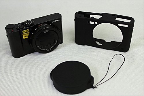 BolinUS Fullbody Ultra-thin Lightweight Rubber Soft Silicone Case Bag Cover for Panasonic Lumix LX10 DMC-LX10 -Black