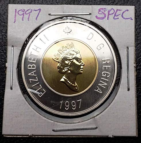 Unbranded 1997 Canada $2 Two Dollar Specimen TOONIE Great Condition