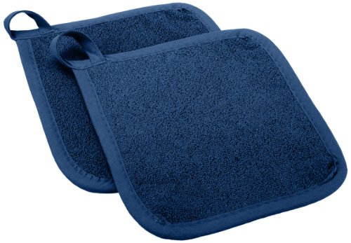 UPC 075215300245, Ritz Royale Collection Cotton Terry Pot Holder Hot Pad Set, Federal Blue, 2-Piece