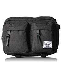Herschel Eighteen Fanny Pack Black Crosshatch One Size