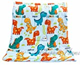 Elegant Home Multicolor Dinosaurs Kids Soft & Warm Sherpa Baby Toddler Boy Blanket Printed Borrego Stroller or Toddler Bed Blanket Plush Throw 40X50 # Dinosaur