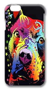 iphone 6 plus 5.5 inch Case and Cover -thoughtful pitbull warrior heart TPU Silicone Rubber Case Cover for iphone 6 plus and iphone 6 plus 5.5 inch Black