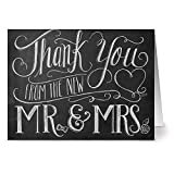 New Mr. & Mrs. - 36 Chalkboard Note Cards - Blank Cards - Kraft Envelopes Included