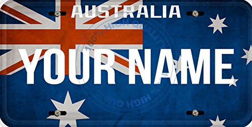 Personalized Custom Name License Australia Flag Car Vehicle License Plate Auto - Custom Australia