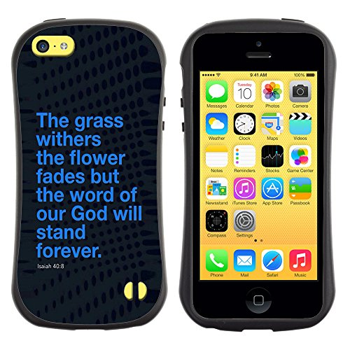 DREAMCASE Citation de Bible Silicone et Rigide Coque Protection Image Etui solide Housse T¨¦l¨¦phone Case Pour APPLE IPHONE 5C - ISAIAH 40:8 WORD OF GOD WILL STAND FOREVER