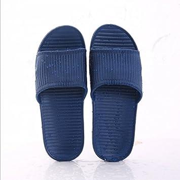 CWJDTXD Zapatillas de verano Zapatillas de casa ligeras mujer casa verano interior gruesa de fondo linda pareja bañador antideslizante sandalias baratas y ...