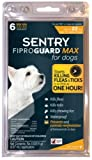 SENTRY FiproGuard Max Dog Flea and Tick Squeeze-On 0-22lb 6 month, My Pet Supplies