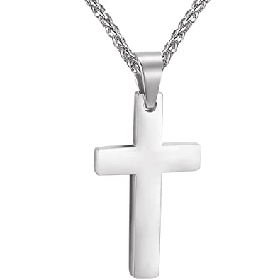 Amazon cross necklaces pendants stainless steelminimalist cross necklaces pendants stainless steelminimalistchristian jewelry for menwomenmeditation aloadofball Images