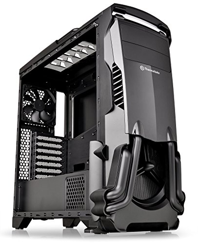 Thermaltake Versa N24 Black ATX Mid Tower Gaming Computer Case Chassis with Power Supply Cover, 120mm Rear Fan preinstalled. CA-1G1-00M1WN-00