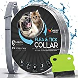 JAKOP Innovations Flea and Tick Collar for Dogs and Cats | Flea Comb | Flea Prevention for Small, Large Dog | Safe and Effective Adjustable Waterproof Design | 8 Month Protection | 100% Natural