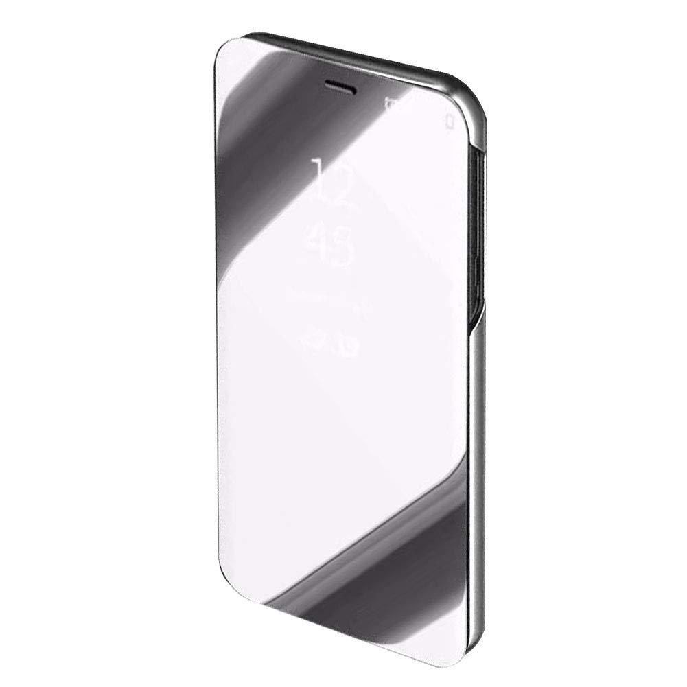 Luxueux Noble Lumi/ère Violet Effet Miroir M/étal Plaqu/é Galvanoplastie Clair Portable Coque Moiky Clair Vue Fen/être Etui Coque pour Galaxy S10E,Magn/étique /Étui pour Samsung Galaxy S10E