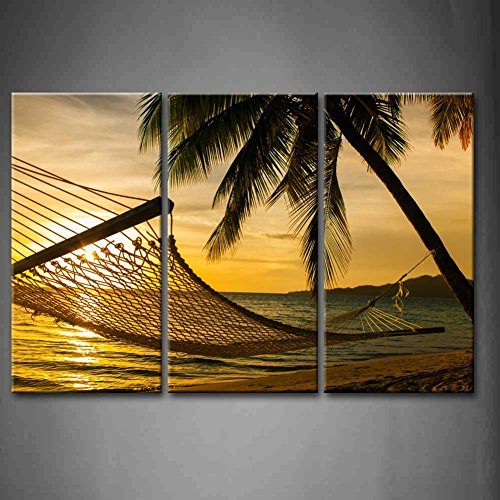 Silhouette Beautiful Landscape Decoration Stretched