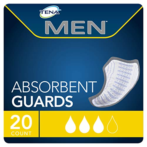 TENA Incontinence Guards for Men, Moderate Absorbency, 20 Count