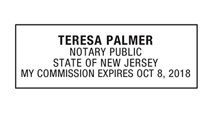 Notary Stamp For State Of New Jersey Self Inking Customize Online