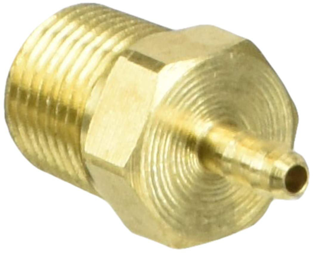 5//32 Barb Tube x 1//8 Male Thread Parker Hannifin 28-5//32-2 Dubl-Barb Brass Body Male Connector Fitting