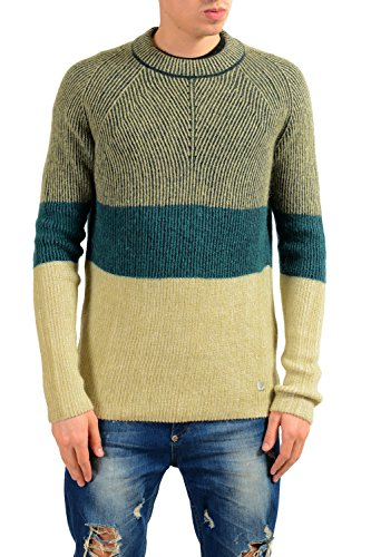 Versace Collection Men's Wool Mohair Crewneck Sweater US M IT 50 (Mohair Wool Sweater)
