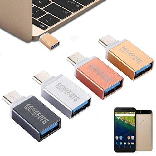 5pcs USB 3.1 Type-C Male to USB 3.0 A Female Adapter OTG - 5