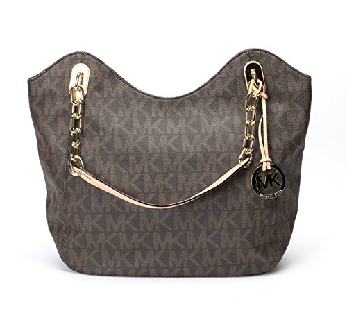 Michael Kors MD Lilly Tote Signature PVC Brown - Burberry Michael