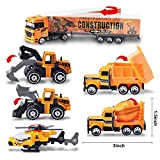 Joyin Toy 11 in 1 Die-cast Construction Truck Vehicle Car Toy Set Matchbox Cars With Carrier Truck