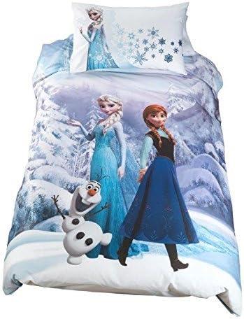 Frozen Copripiumino.Disney Frozen Parure Copripiumino Letto Singolo By Caleffi Amazon