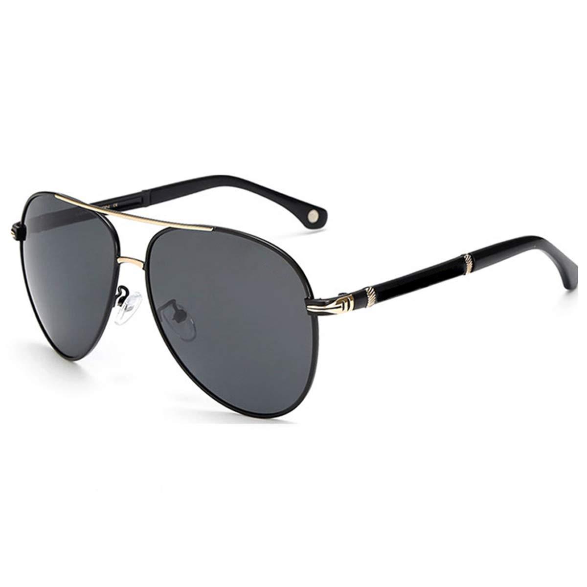 QJKJ Gafas de sol gafas de sol protecci/ón UV marco de aleaci/ón gafas de sol para hombre conducci/ón retro pesca viaje al aire libre
