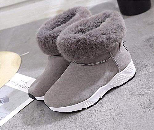 Eu Sed Soft Women's Color 36 Invernali Bottom Students Thickening Warmth S 'scarpe Boots Pure Sanding aZ6TwapBq