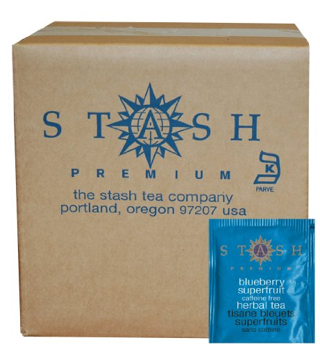 Stash Tea Blueberry Superfruit Herbal Tea, 100 Count Box of Tea Bags in Foil (packaging may vary)