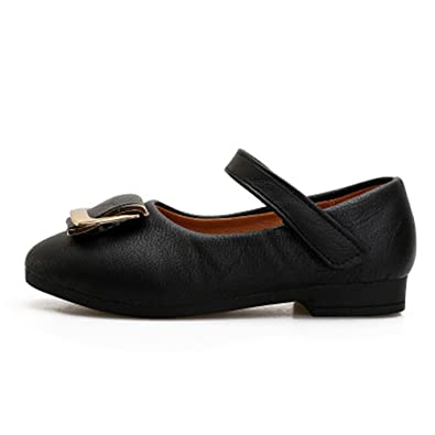 4646995ce91f1 Amazon.com | Girls School Uniform Shoes Oxford Embroidered Mary Jane ...
