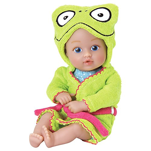 """Adora Bathtime Baby Tot """"Frog"""" Small 8.5 Inch Washable Bathtub Water Safe Soft Body Vinyl Fun Play Toy Doll for, Boy Or Girl Child 1 Year Old and ()"""