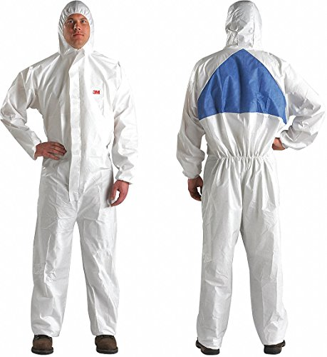 3m Hooded Disposable Coveralls with Knit Material, White/Blue, L L 4540-L - 1 Each