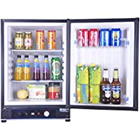 Smad Compact Gas-powered Refrigerator Mini Fridge Adjustable Temperature Control, 2.1 cu.ft.